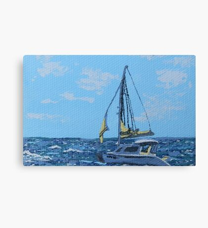 Caribbean sailboat Canvas Print