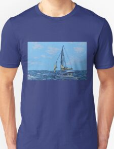 Caribbean sailboat Unisex T-Shirt