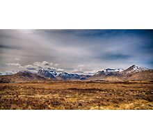 The Black Mount Glencoe Scotland Photographic Print