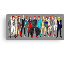 Group Bowie Fashion Canvas Print