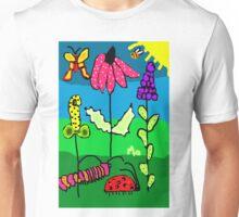 Funky Fall Garden flowers Bugs Unisex T-Shirt