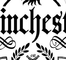 Winchester And Sons (white version) Sticker