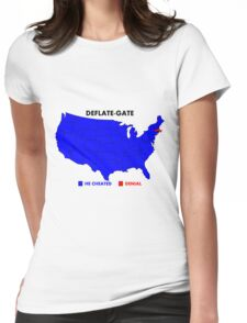 Deflate-Gate Opinion Poll Womens Fitted T-Shirt