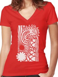The Last Tree Falleth Women's Fitted V-Neck T-Shirt