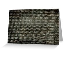 Binary Code - Distressed textured version Greeting Card