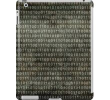 Binary Code - Distressed textured version iPad Case/Skin