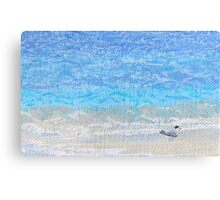 Bird on the beach Canvas Print