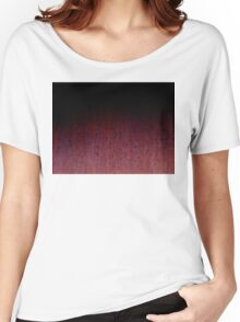 Red Brown and Black Rust Metal Patina Women's Relaxed Fit T-Shirt