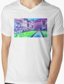 Old Building 1 Mens V-Neck T-Shirt