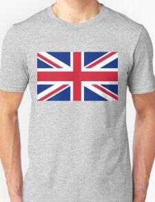UK Union Jack ensign flag - Authentic version (Duvet, Print on Red background)  Unisex T-Shirt
