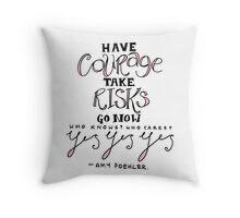 amy poehler (pink) Throw Pillow