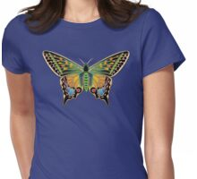 Jeweled Butterfly Womens Fitted T-Shirt