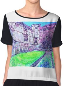 Old Building 1 Chiffon Top