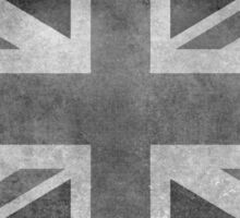 Union Jack Vintage 3:5 Version in grayscale Sticker