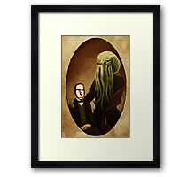 Lovecraft and Cthulhu Framed Print