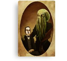 Lovecraft and Cthulhu Canvas Print