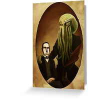 Lovecraft and Cthulhu Greeting Card
