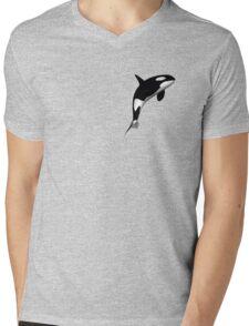 Killer Whale Mens V-Neck T-Shirt