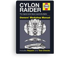 Haynes Manual - Cylon raider - Poster and stickers Canvas Print