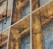 Three Dimensional Optical Illusions - Trompe L'oeil on a Brick Wall Sticker