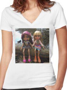 Bratz Women's Fitted V-Neck T-Shirt