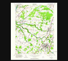 USGS TOPO Map New Jersey NJ Hightstown 254466 1954 24000 Unisex T-Shirt