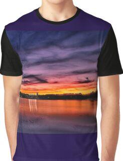 Sun dusk over Boston College  Graphic T-Shirt