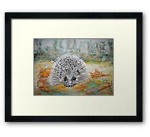Happy Hedgehog Framed Print