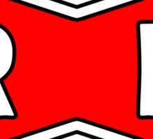 Red Ribbon Army Sigil  Sticker