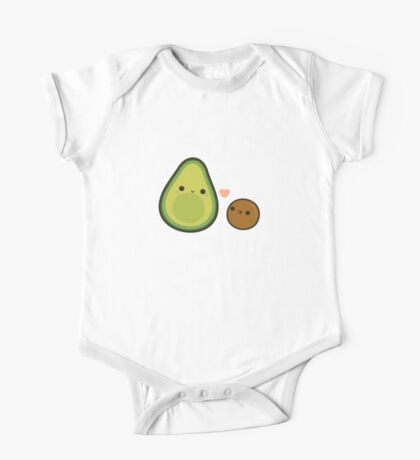Cute avocado and stone One Piece - Short Sleeve