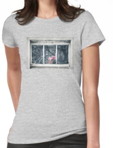 Frozen window (aka plastic flower) Womens Fitted T-Shirt