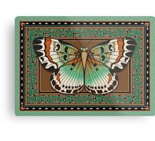 Paisley Butterfly Metal Print