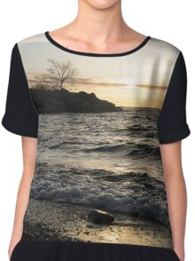 Lakeside - Waves, Sand and Sunshine Chiffon Top