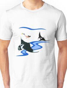 Manta Ray and Free Diver Unisex T-Shirt