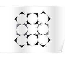 optics: circles and squares entwined Poster