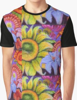 """Floral Graffiti"" Graphic T-Shirt"