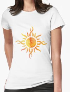 Watercolor Sun Womens Fitted T-Shirt