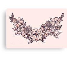 floral wreath Canvas Print
