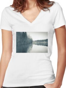Mist Women's Fitted V-Neck T-Shirt