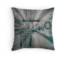 1960s launderette Throw Pillow