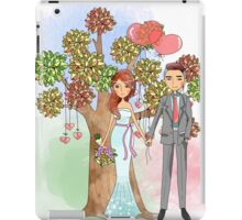 Beautiful Wedding Bride and Groom Hearts Tree iPad Case/Skin