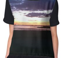 Sunset On The Bay Chiffon Top