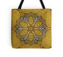 African Print Starburst-Yellow Tote Bag