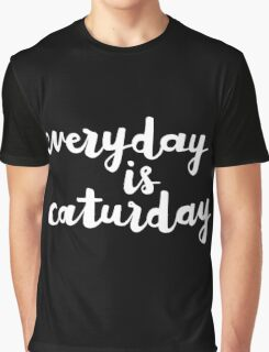Caturday | Hand Lettered I Graphic T-Shirt