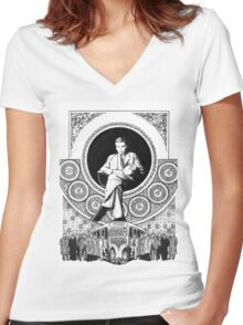 Alan Turing Women's Fitted V-Neck T-Shirt