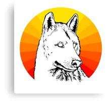 Wolf - Sun Canvas Print