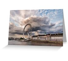 Impressions of London - London Eye Dramatic Skies Greeting Card