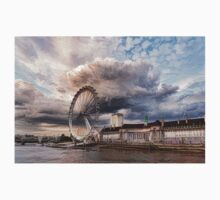 Impressions of London - London Eye Dramatic Skies One Piece - Short Sleeve