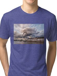 Impressions of London - London Eye Dramatic Skies Tri-blend T-Shirt