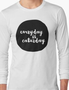 Caturday | Hand Lettered II T-Shirt